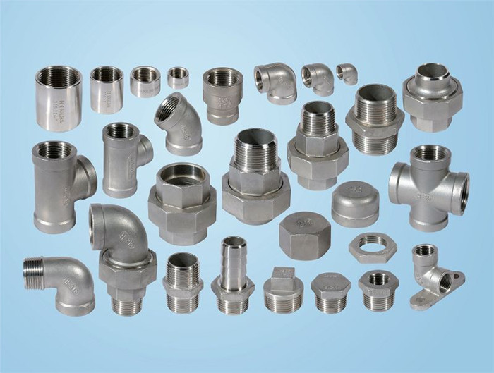Stainless steel threaded cast fitting