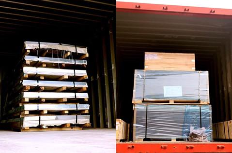 Acero Inox chapas,aluminio composite panel export to Chile